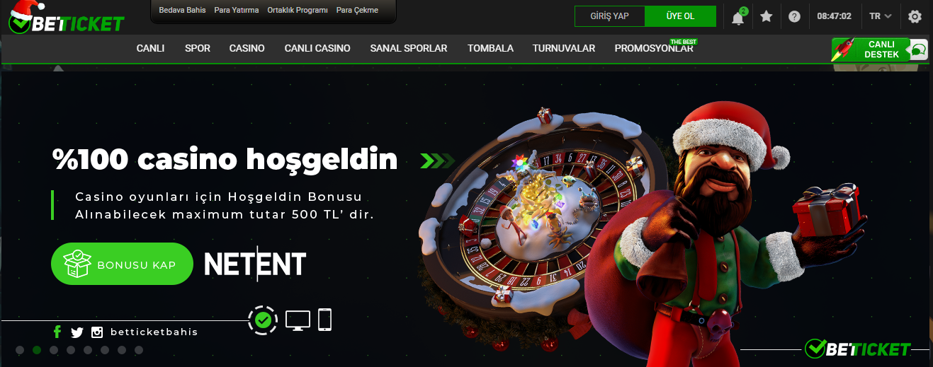 Betticket Casino Sitesi